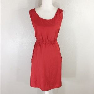 Loft red blouson dress